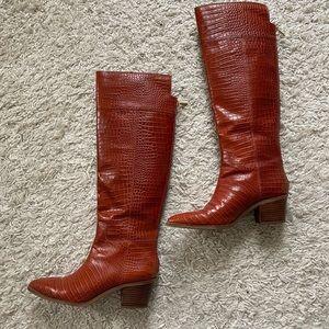 Franco sarto croc boots chestnut